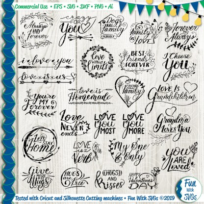 Handlettered relationship svg bundle Image