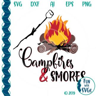 FWS102 Campfires and Smores SVG Image