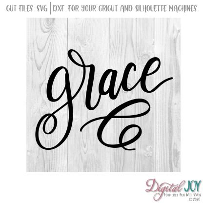 Grace SVG Cut File, Ephesians 2:8-9 What set us apart but His Grace? This file is part of a series to be used on coffee cup, signs, t-shirts and more. SVG Image