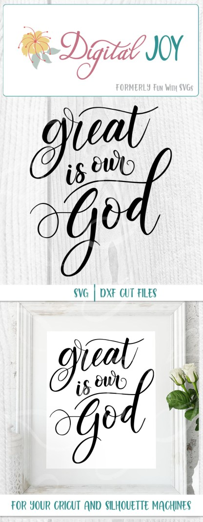 Sample Project Image for Great is out God SVG file