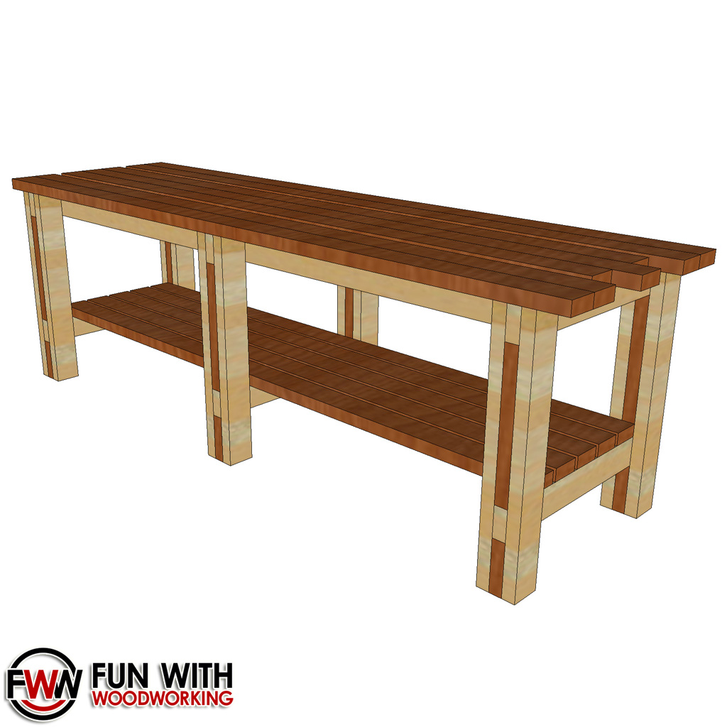 No Frills Workbench 4 Steps With Pictures: Simple & Strong 8ft 2×4 WorkBench