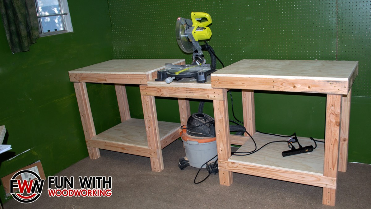 How To Build A Simple And Strong Miter Saw Station Fun