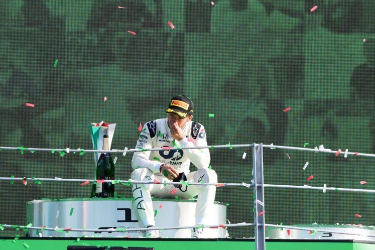 Gasly sul podio, Monza 2020