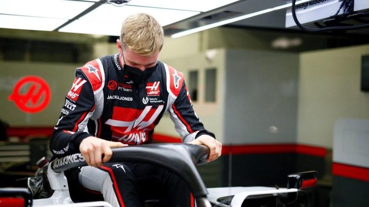 Mick Schumacher prova la Haas