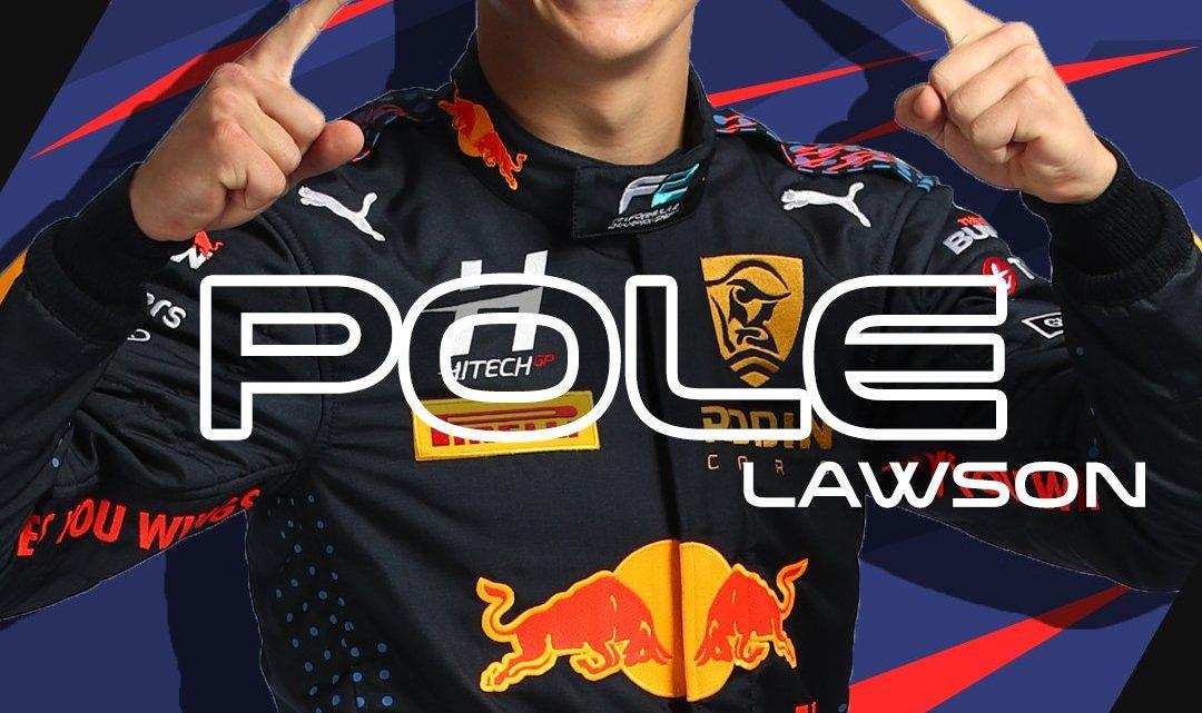 Qualifiche F2: pole di Lawson, beffato Armstrong. Dominio Hitech GP