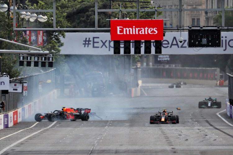 Incidente di Verstappen a Baku