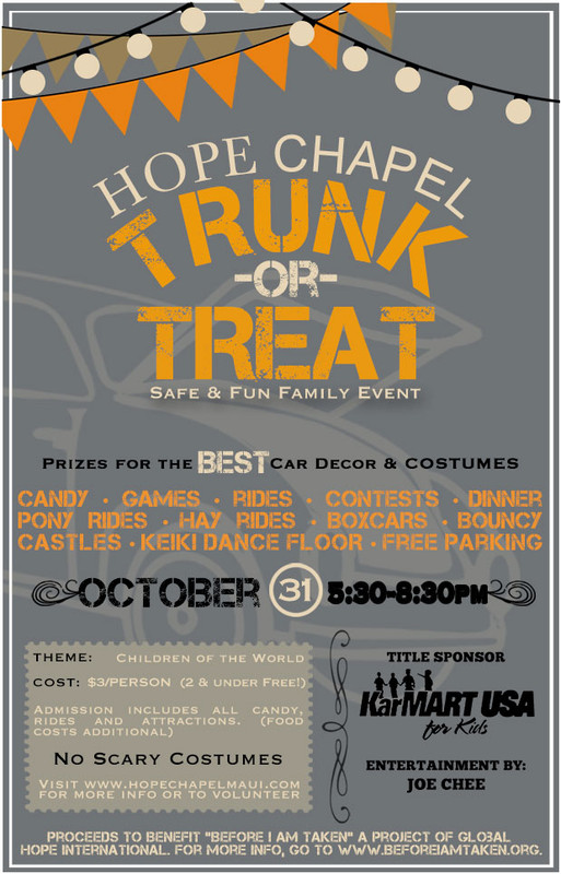 Christian Trunk Or Treat Flyer Template