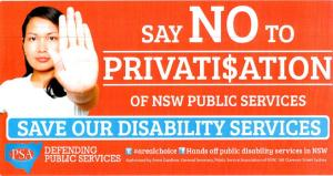 Image: Boot Baird: Say NO to privatisation of Aging, Disability and Home Care Services