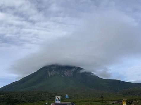 知床峠は雲が出てました