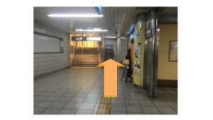 戸塚駅地下1階エレベーター前