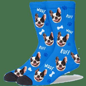 FurbabySocks Custom Blue Dog Socks