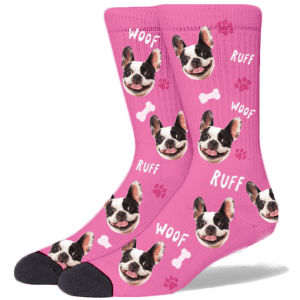 FurbabySocks Custom Pink Dog Socks