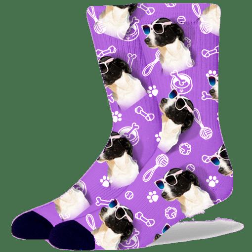 FurbabySocks Custom Purple Dog Socks