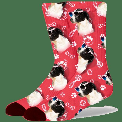 FurbabySocks Custom Red Dog Socks