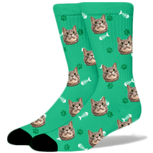 FurbabySocks-Custom-Green-Cat-Socks