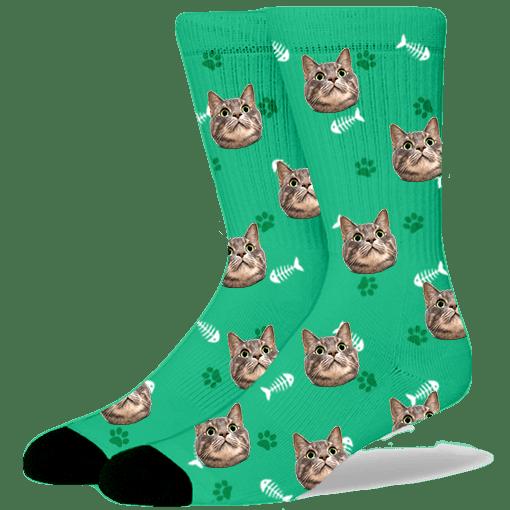 FurbabySocks-Custom-Green-Cat-Socks