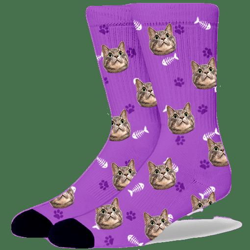 FurbabySocks-Custom-Purple-Cat-Socks