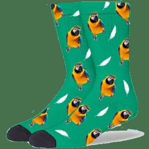 FurbabySocks Custom Green Bird Socks