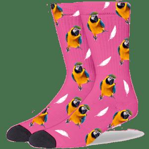 FurbabySocks Custom Pink Bird Socks