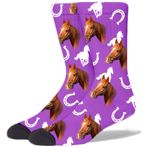 FurbabySocks Custom Purple Horse Socks