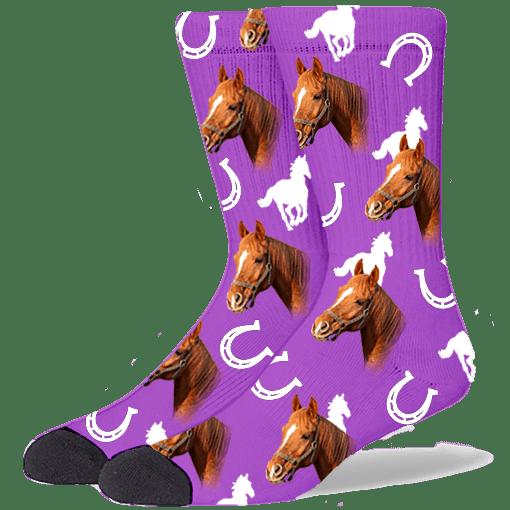 FurbabySocks Custom Purple Horse Socks