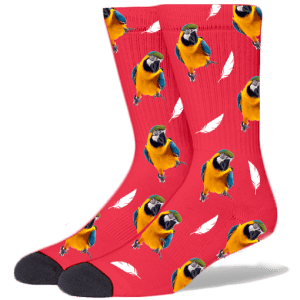 FurbabySocks Custom Red Bird Socks