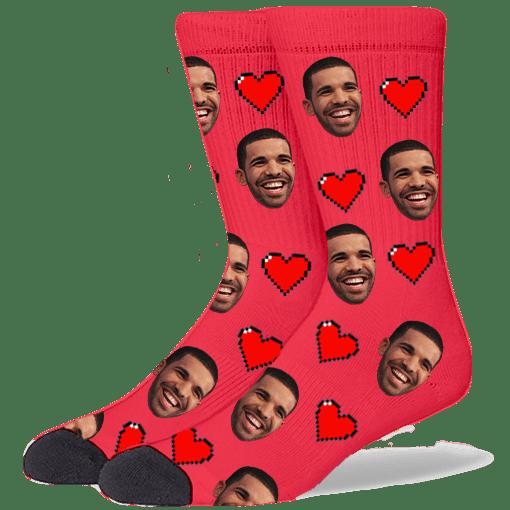 FurbabySocks Custom Red Heart Socks