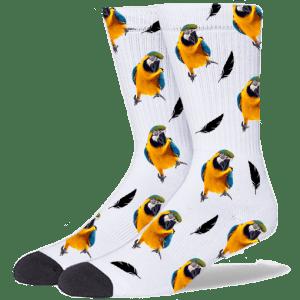 FurbabySocks Custom White Bird Socks