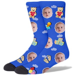 Baby Face Product Socks BABY BLUE