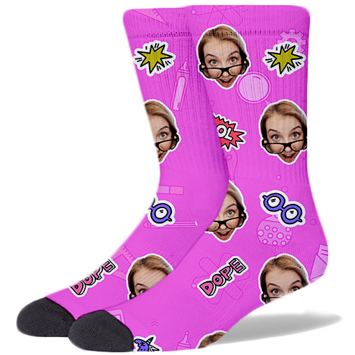 Back To School Product Socks Bubble Gum PINK