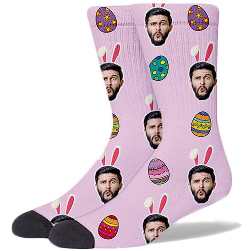 Easter Large PINK Socks