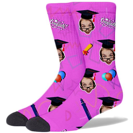 Graduation Product Socks PLASTIC PINK