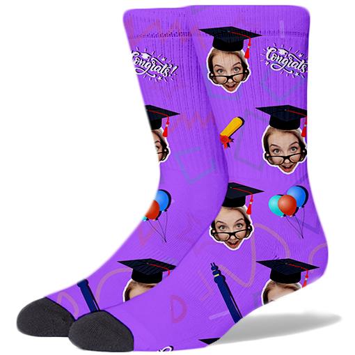 Graduation Product Socks WISTERIA PURPLE