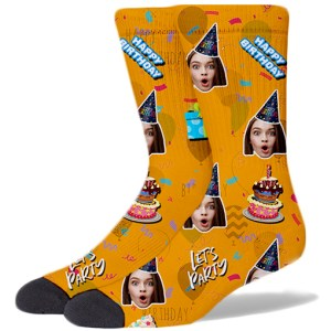 Happy Birthday Product Socks AMBER