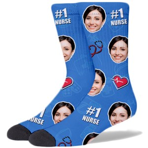 Nurse Product Socks LIGHT BLUE