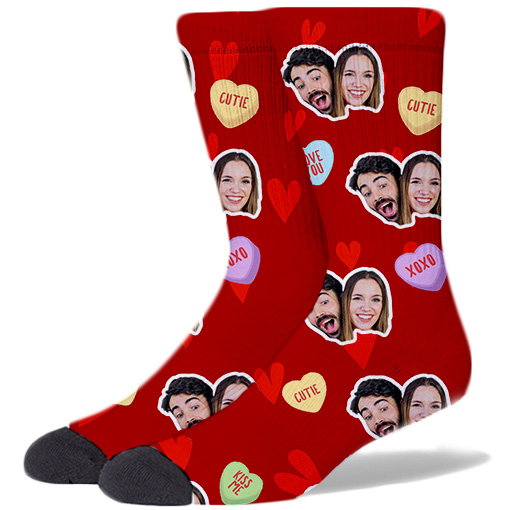 Valentine's Day Socks ROSE