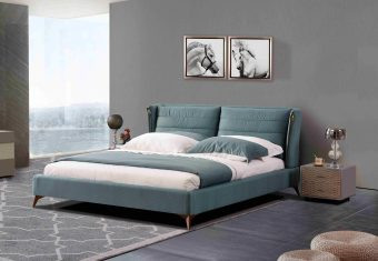 A8609-high quality upholstered fabric bed made by china luxury and modern furniture factory and company-furbyme