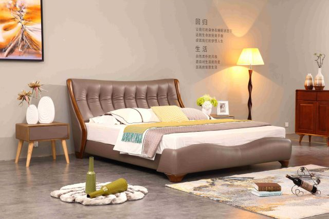 A8625-high quality upholstered leather king bed made by china luxury and modern furniture factory and company-furbyme_副本