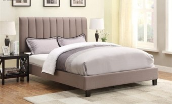 high quality upholstered fabric bed made by china luxury and modern furniture factory and company-furbyme