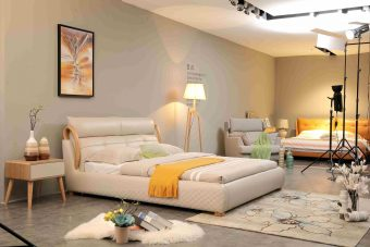 A8830-high quality upholstered leather king bed made by china luxury and modern furniture factory and company-furbyme
