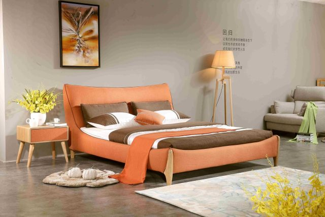 A8831-high quality upholstered fabric bed made by china luxury and modern furniture factory and company-furbyme