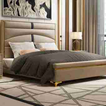 DX-101-high quality upholstered leather king bed made by china luxury and modern furniture factory and company-furbyme