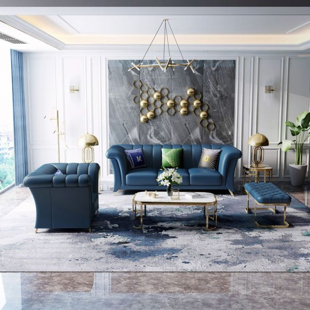 china high quality modern design luxury upholstered leather sofa manufacturer and factory-furbyme