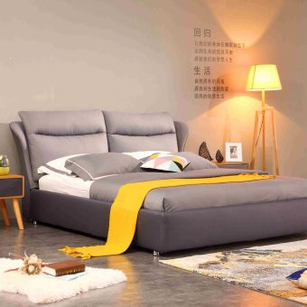 A518-high quality upholstered fabric bed made by china luxury and modern furniture factory and company-furbyme