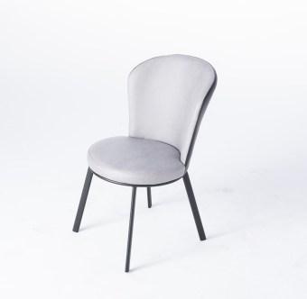 dkf33-china modern design home kitchen metal fabric dining chair supplier manufacturer-furbyme (1)