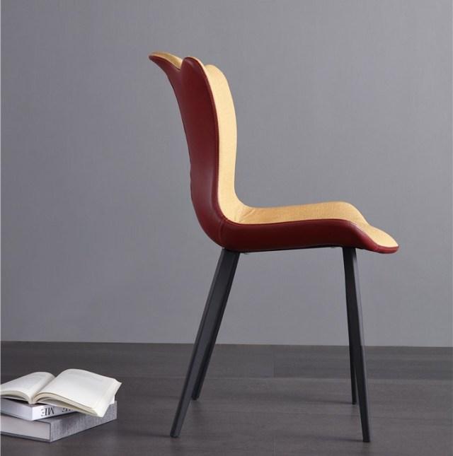 dkf69-china modern design home kitchen metal leather dining chair supplier manufacturer-furbyme (3)