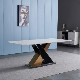 dkf701-china modern luxury home furniture metal slate top kitchen dining table supplier manufacturer factory company-furbyme (1)
