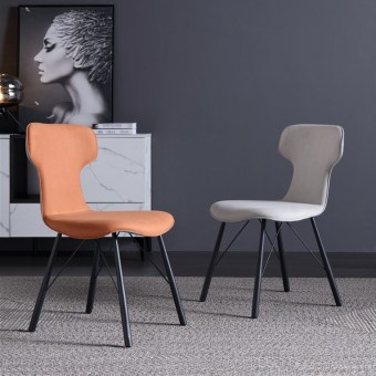 dkf71-china modern design home kitchen metal fabric dining chair supplier manufacturer-furbyme (2)
