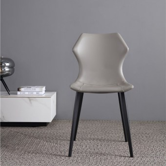 dkf76-china modern design home kitchen metal leather dining chair supplier manufacturer-furbyme (1)