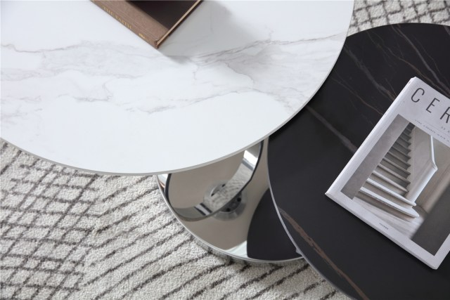 639china modern luxury home furniture metal stainless steel sintered stone mable top round coffee table supplier manufacturer factory-furbyme (1)